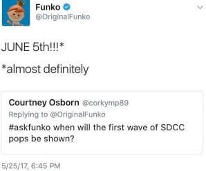 Funko will be announcing SDCC 2017 Exclusives on June 5th!