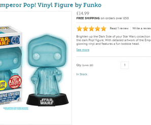 Holographic Emperor Pop! Vinyl Figure by Funko Live on Disney Store (UK Only)