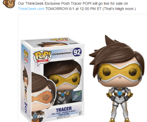 ThinkGeek Exclusive Posh Tracer Funko POP! will go live for sale on ThinkGeek.com TOMORROW 6/1 at 12:00 PM EST