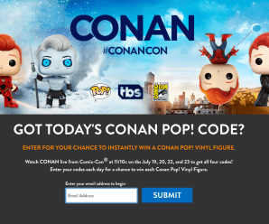 Tonight's SDCC 2017 Conan Code is Jedi late knight!
