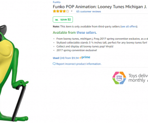 Funko POP Animation: Looney Tunes Michigan J. Frog 2017 Spring Convention Toy – Amazon Warehouse Deals