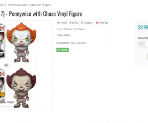 Funko Pop! IT (2017) – Pennywise with Chase Vinyl Figure – In Stock!