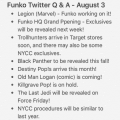 Funko Twitter Q&A Overview – 8/3/17